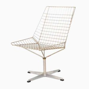 Scandinavian Swivel Wire Chair, 1960s