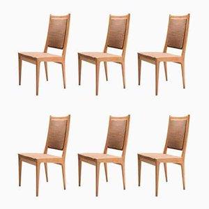 Skandinavische Esszimmerstühle von Karl Erik Ekselius für JOC, 6er Set