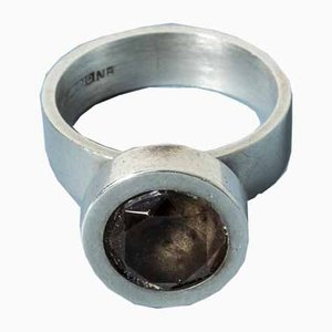 Silver and Smoke Quartz Ring by Elis Kauppi