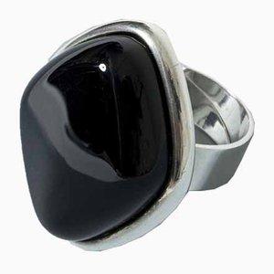Silber und Onyx Ring von Niels Erik