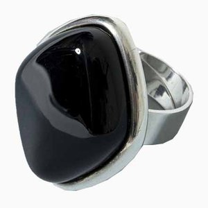 Silver and Onyx Ring from Niels Erik
