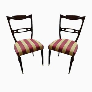 Italian Curved Back Chair, 1970s, Set of 2