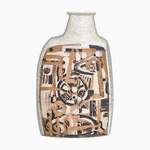 Danish Modern White Ceramic Vase by Hagedorn-Olsen for Own Studio, 1961