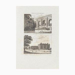 Unknown - Stadtlandschaften - Frankreich Pittoresque - Original Radierung - 19. Jahrhundert