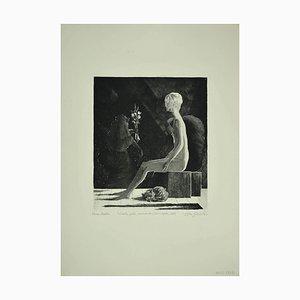 Leo Guida - the Sibylle - Original Radierung - 1972