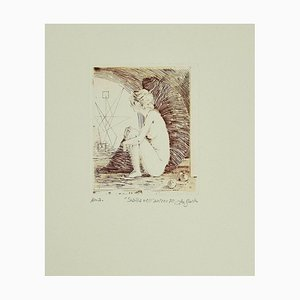 Leo Guida - the Sibyl in the Cave - Original Etching on Paper - 1970s