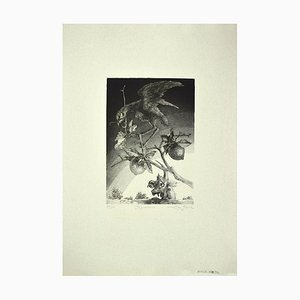 Leo Guida - the Guardian - Original Etching on Paper - 1980s