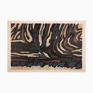 Raoul Ubac - Striped Composition - Original Lithograph - 1964