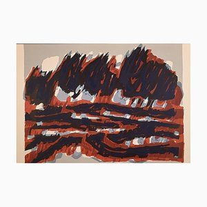 Raoul Ubac - Le Champ Rouge - Original Lithograph - 1964
