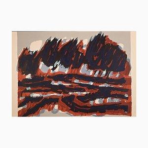 Raoul Ubac - Le Champ Rouge - Original Lithographie - 1964