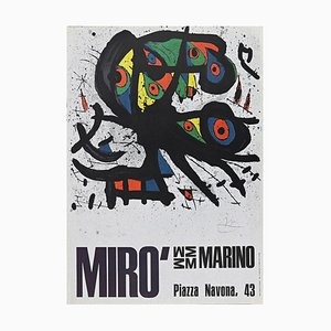 After Joan Miró - Miro Poster Exhibition - Vintage Offset - 1971
