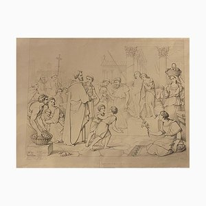 Unknown - Non Angli Sed Angeli - Original Lithograph After G. Scharf and E. Webb - 1846