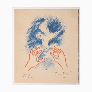 Orfeo Tamburi - Bird - Original Lithograph - 1964