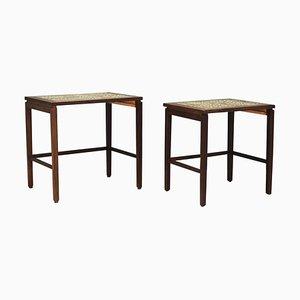 Tavolini ad incastro in teak, anni '60, set di 2