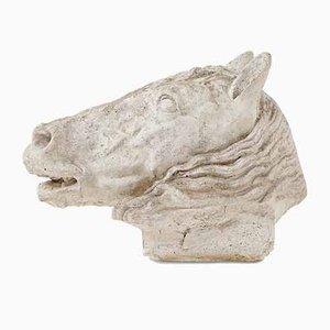 Testa di cavallo vintage in pietra