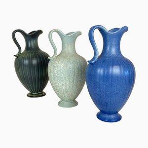 Mid-Century Keramik Vasen von Gunnar Nylund für Rörstrand, Schweden, 3er Set