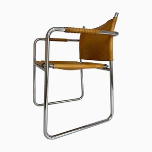 Swedish Chrome & Leather Armchair Model Amiral by Karin Mobring for Ikea, 1970s