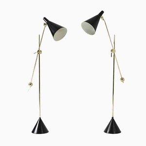 Floor Lamps by Tapio Wirkkala, Set of 2