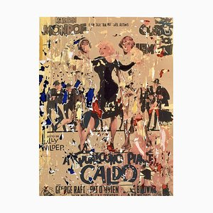 Some Like it Hot Screen Printing and Collage by Mimmo Rotella