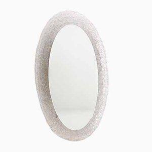 Illuminated Oval Mirror in Acrylic