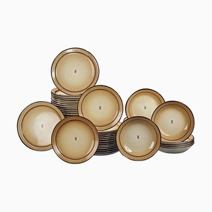 Distributeur Dinnerware Set by Marcel Goupy Rouard, Set of 55