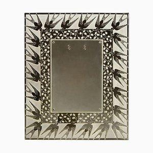 Muguet et Hirondelles Gold Frame by Rene Lalique, 1926
