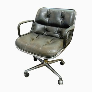 Black Executive Chair by Charles Pollock for Knoll