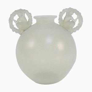 Ronsard Opalescent Vase by René Lalique, 1926