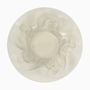 Molded Opalescent Glass Calypso Bowl by René Lalique