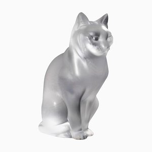 Französische Sitzende Katze von René Lalique