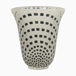 Black Enameled Damiers Vase by René Lalique
