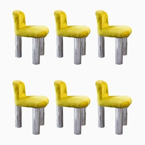 BOTOLO Rolling Chairs by Cini Boeri, 1970s, Set of 6