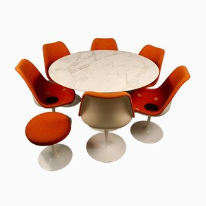 Tulip Table by Eero Saarinen for Knoll International Knoll, Set of 8