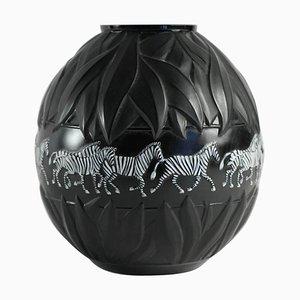 Tanzania Zebra Vase by René Lalique