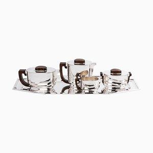 Silver Tea / Coffee Set from Jean Tetard & Christofle, Set of 5