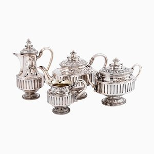 Silver Tea Coffee by Gustave Odiot, Set of 4