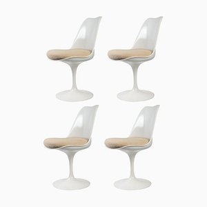Tulip Stühle von Eero Saarinen & International Knoll, 4er Set