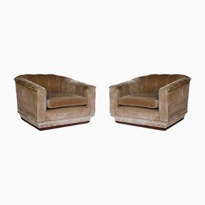 Italian Lounge Chairs, 1940s, Set of 2