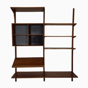 Danish Teak 11-Piece Modular Wall Unit by Poul Cadovius for Cado, 1960s, Set of 11