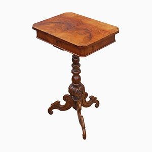 Burr Walnut Sewing Table, 1860s