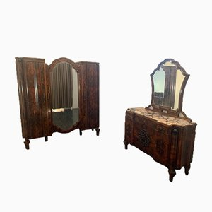 Art Deco Moved Rosewood Wardrobe, 1930s