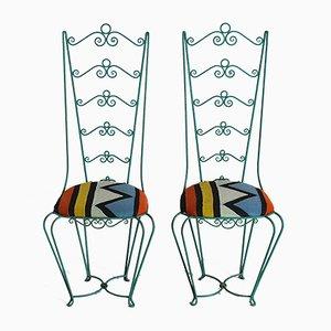 Chiavari Style Iron Outdoor Chairs, 1960s, Set of 2