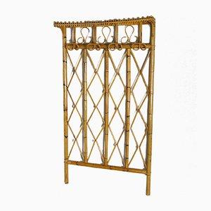 Bamboo & Cane Coat Rack, 1960s