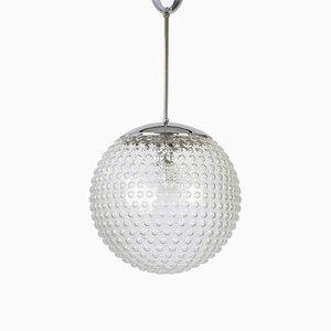 German Glass Pendant Lamp by Rolph Krüger for Staff Leuchten, 1970s