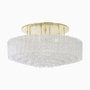 Großer deutscher röhrenförmiger Murano Glas Kronleuchter von Doria Leuchten, 1960er