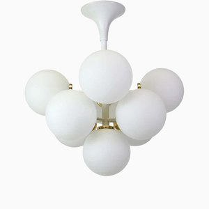 Swiss White Atomic Ceiling Lamp, 1960s