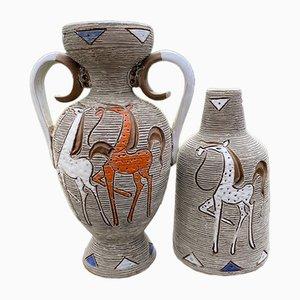 Vasen von Fratelli Fanciullacci, 1960er, 2er Set