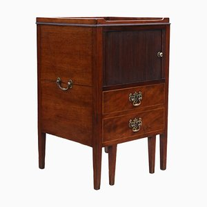 Large Georgian Mahogany Nightstand or Washstand, Circa 1800