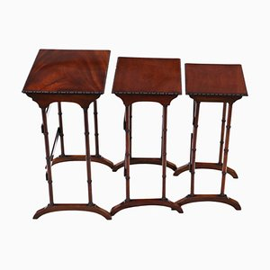 Victorian Mahogany Nesting Tables, Circa 1900, Set of 3