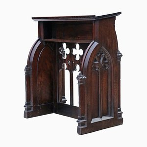 Gothic Carved Oak Lectern Stand / Table, 1800s